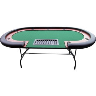 Buffalo High Roller pokerbord, 210x105 cm sort