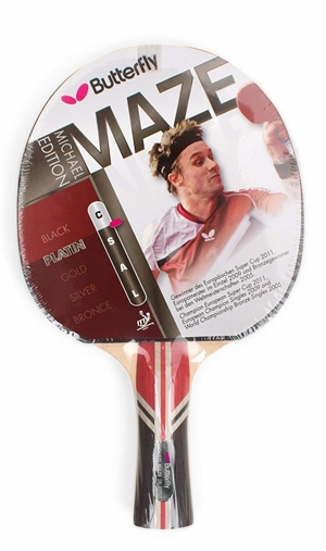 Michael Maze Platin Butterfly bordtennisbat
