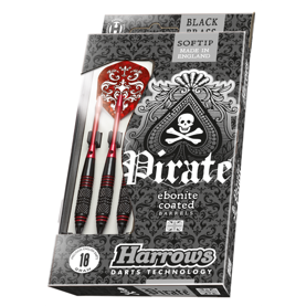 Softip PIRATE black brass darts