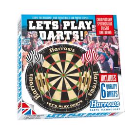 Dart sæt - Let´s play darts Harrows - skive & pile