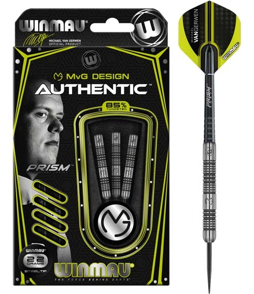 MvG Authentic 90% NT steeltip dartpile fra Winmau